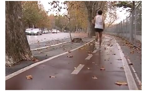 Maratoneta che corre