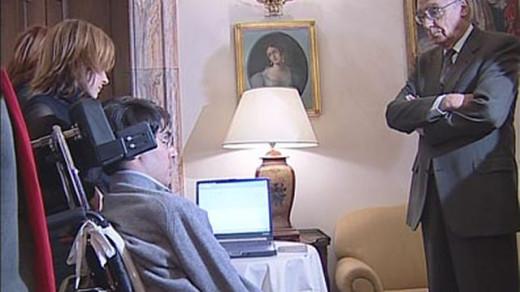 Josè Saramago saluta Luca Coscioni