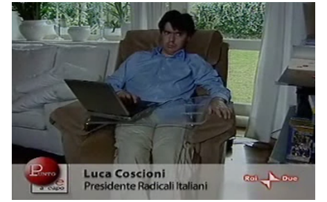 Luca Coscioni a casa ad Orvieto