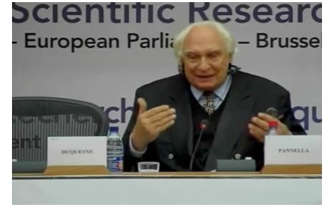 Marco Pannella alla conferenza europea per la ricerca
