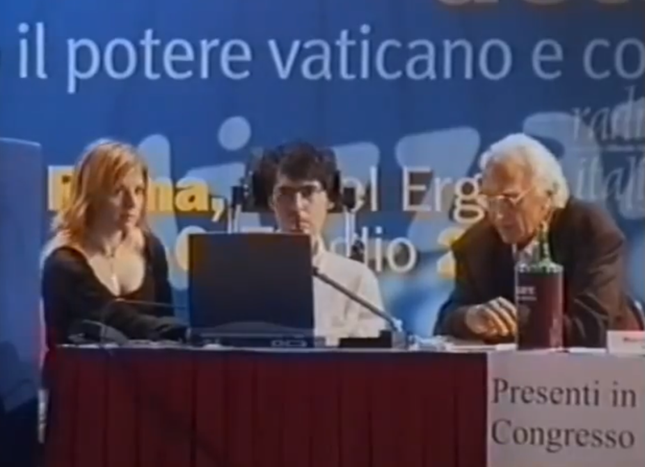 Luca Coscioni aI primo congresso di Radicali Italiani