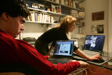 Luca Coscioni a casa con Maria Antonietta