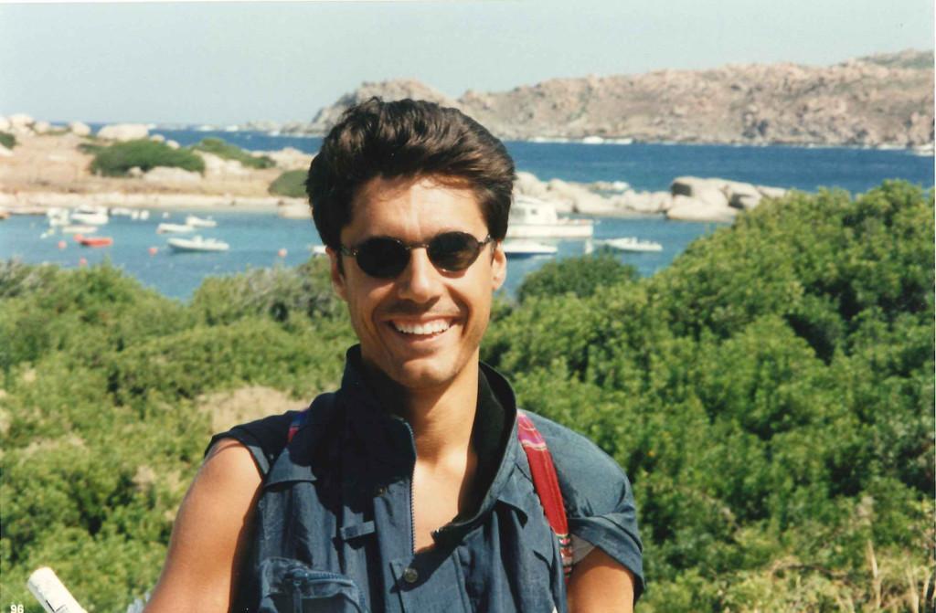 Luca con gli occhiali a Concaverde, Sardegna, Settembre 2006