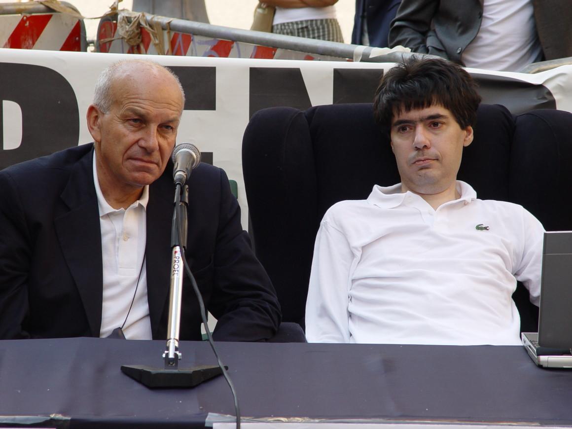 Luca Coscioni e Fausto Bertinotti