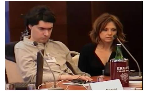 Luca Coscioni e sua moglie Maria Antonietta al congresso mondiale per la libertà di ricerca scientifica