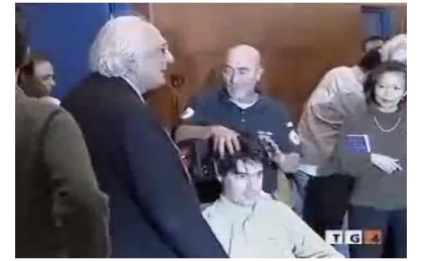 Emilio Fede annuncia i funerali di Luca Coscioni al Tg4