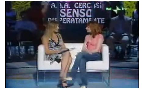 Maria Antonietta Farina Coscioni intervistata negli studi Rai