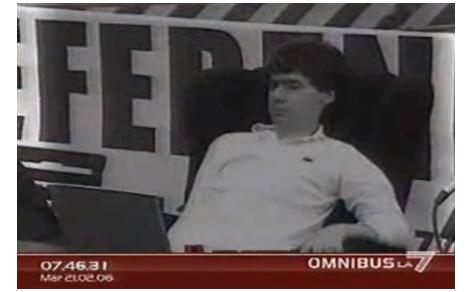 Copertina su Luca Coscioni su Omnibus La7 con un montaggio che ricorda la sua attività politica