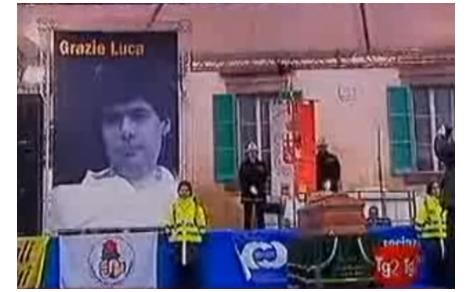 Servizio sui funerali di Luca Coscioni al Tg2