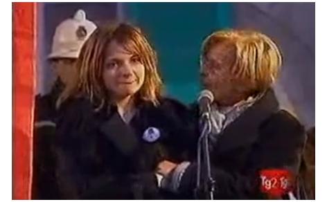 Servizio sui funerali di Luca Coscioni nell'edizione serale del Tg2, ricordando il suo impegno per la politica