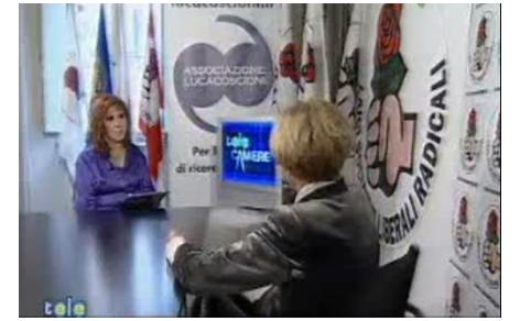 """Emma Bonino in studio con Anna La Rosa a """"Telecamere"""""""
