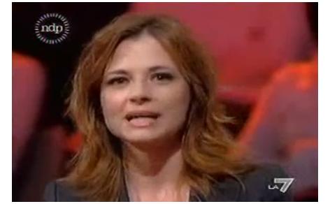 Maria Antonietta Farina Coscioni negli studi di La7