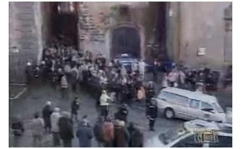 Servizio del Tg1 sui funerali di Luca Coscioni